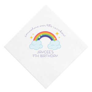 Rainbow Birthday Photo/Full Color Napkin