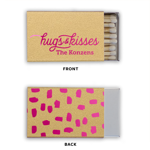 personalized matches for party favors