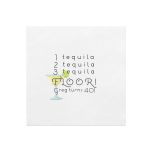 Please use your computer to upload your own 4 color image or customize this napkin and add to cart.