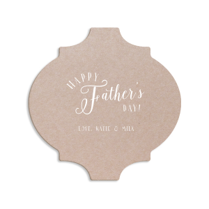 ForYourParty's elegant Kraft w/ Blush back Hexagon Coaster with Matte White Foil can't be beat. Showcase your style in every detail of your party's theme!