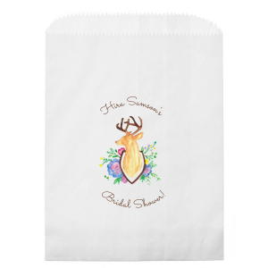 Floral Deer Photo/Full Color Party Bag