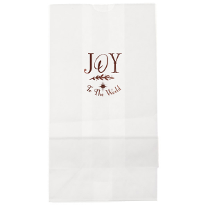 ForYourParty's personalized White Gloss Goodie Bag with Shiny Merlot Foil has a North Star graphic and is good for use in Christmas, Stars themed parties and can be customized to complement every last detail of your party.