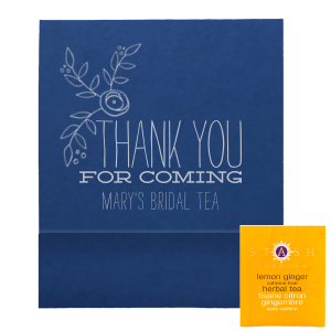 "Thank You For Coming Tea Favor - Personalized - Set of 50 - 2.75 x 2.375"""" by ForYourParty.com"