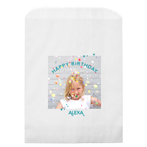 Birthday Confetti Photo/Full Color Party Bag