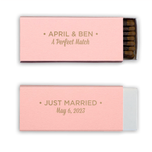 ForYourParty's personalized Poptone Ballet Pink Triangle Matchbox with Shiny Champagne Foil couldn't be more perfect. It's time to show off your impeccable taste.