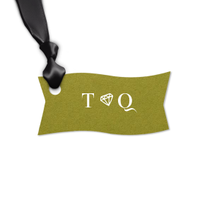 The ever-popular Poptone Dark Olive Round Gift Tag with Matte White Foil has a Diamond graphic and is good for use in Wedding, Bridal Shower, Engagement themed parties and will look fabulous with your unique touch. Your guests will agree!