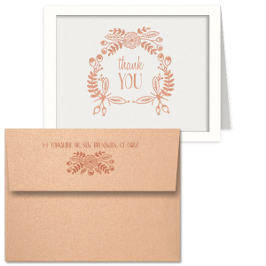 Rustic Floral Thank You Card