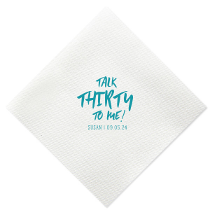 Our custom Dark Turquoise Cocktail Napkin with Matte Pastel Pink Foil couldn't be more perfect. It's time to show off your impeccable taste.