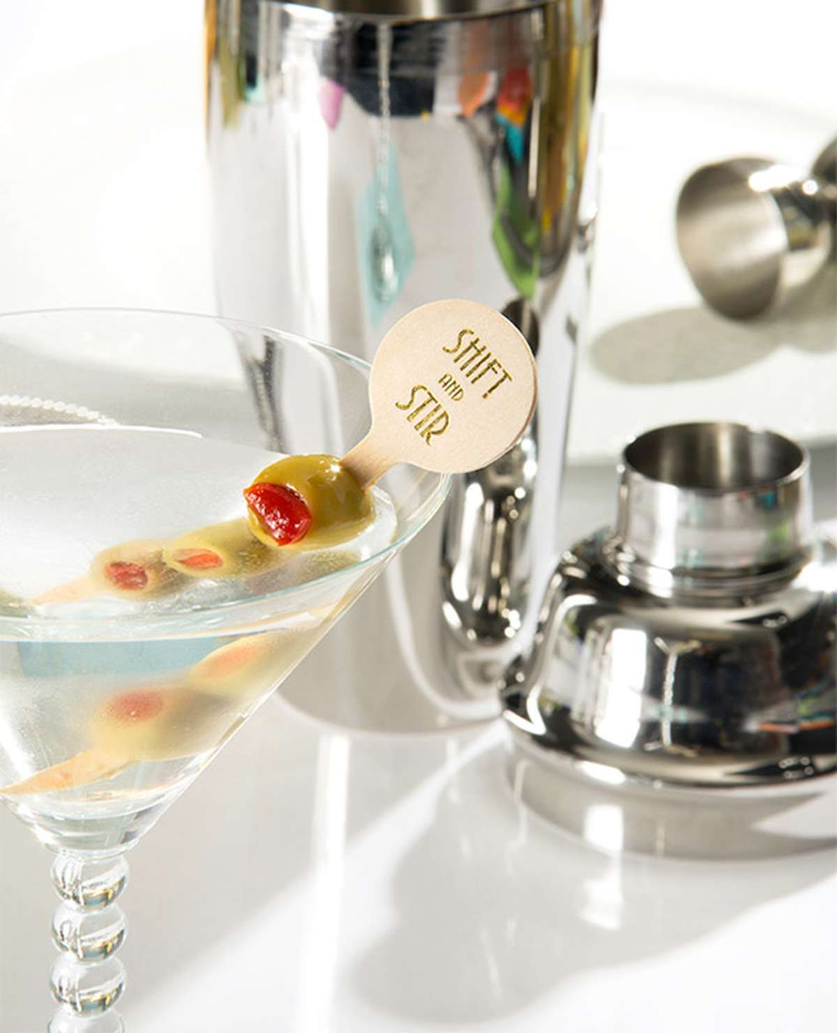 Custom Cocktail Stirrer with Martini