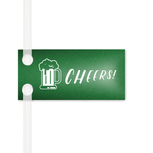 Personalized Natural Leaf Pennant Straw Tag with Matte White Foil has a Brew graphic and is good for use in Drink and Beer themed parties and couldn't be more perfect. It's time to show off your impeccable taste.