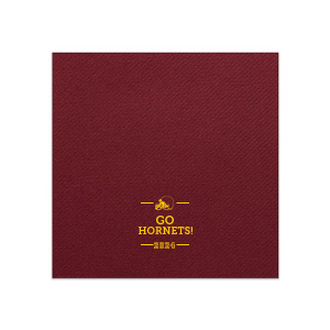 Custom Merlot Cocktail Napkin with Matte Sunflower Foil has a Helmet graphic and is good for use in Sports themed parties and couldn't be more perfect. It's time to show off your impeccable taste.