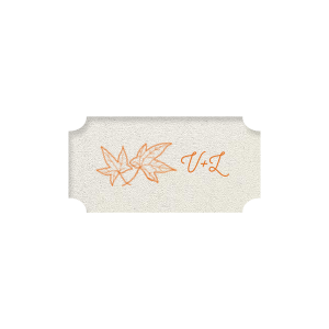Leaf Initials Label