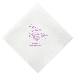 Custom Plum Linen Like Cocktail Napkin with Matte Key Lime Foil will add that special attention to detail that cannot be overlooked.