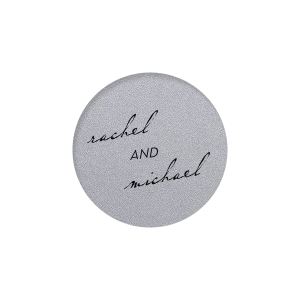 Personalized Classic Crest White Round Label with Matte Black Ink Digital Print Colors will add that special attention to detail that cannot be overlooked.