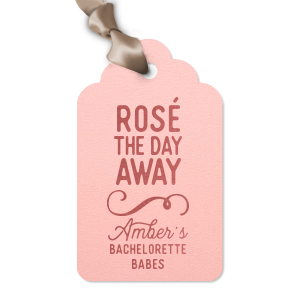 The ever-popular Poptone Ballet Pink Arch Gift Tag with Shiny Rose Quartz Foil has a Fancy Flourish 6 graphic and is good for use in Accents themed parties and are a must-have for your next event—whatever the celebration!