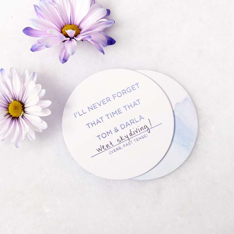 write in bridal shower shower activity coasters