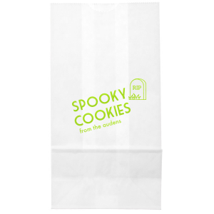 Our beautiful custom Shiny Kiwi / Lime Large Cellophane Bag with Shiny Kiwi / Lime Foil has a RIP graphic and is good for use in Halloween themed parties and can be personalized to match your party's exact theme and tempo.