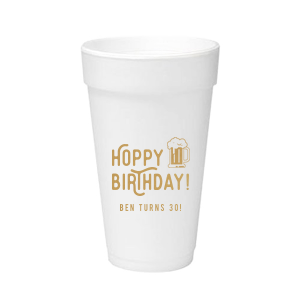 Our beautiful custom Gold Ink 12 oz Styrofoam Cup with Gold Ink Cup Ink Colors has a Brew graphic and is good for use in Drinks themed parties and are a must-have for your next event—whatever the celebration!