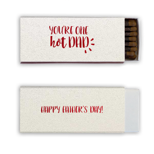 ForYourParty's elegant Stardream White Cigar Matchbox with Shiny Convertible Red Foil will give your party the personalized touch every host desires.