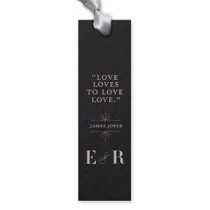 ForYourParty's elegant Natural Black Rectangle Bookmark with Shiny Sterling Silver Foil has a Line Frame graphic and is good for use in Frames themed parties and are a must-have for your next event—whatever the celebration!