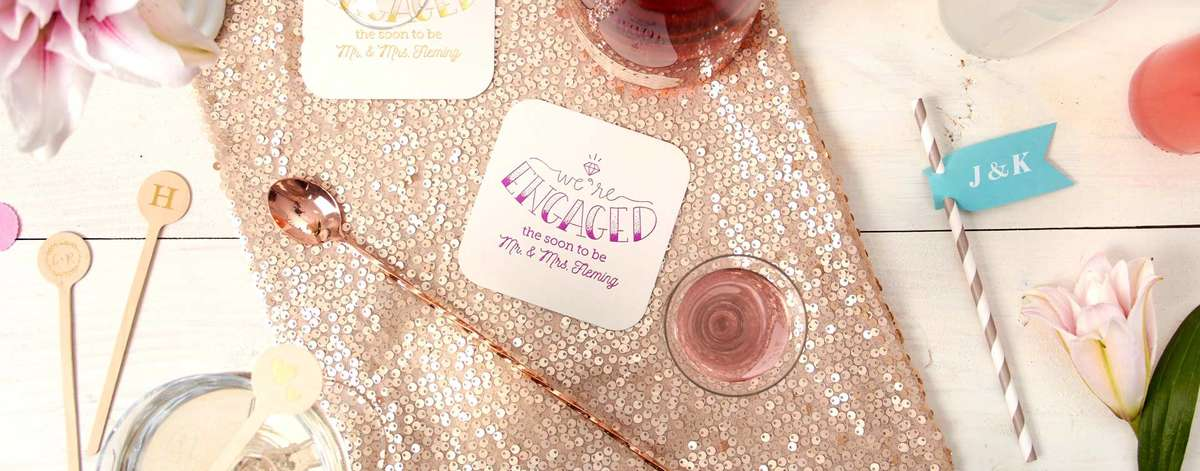 Custom Coasters Save The Date Wedding Coaster Favors For Your
