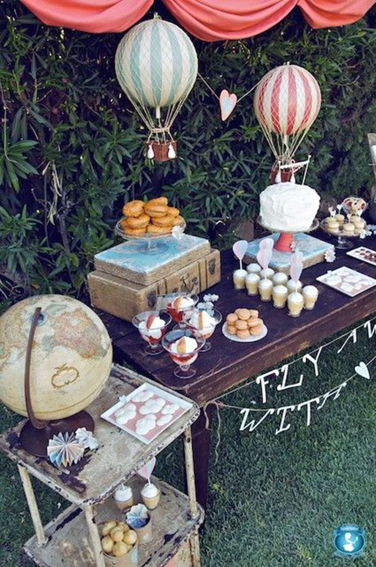 Charming Travel Themed Party Decorations