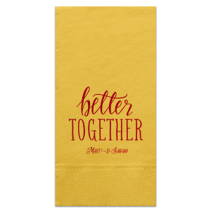 Better Together Couple Napkin