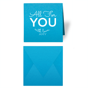 Our beautiful custom Poptone Dark Turquoise Gift Enclosure with Matte White Foil will add that special touch to your gift. Personalize your party's theme today.