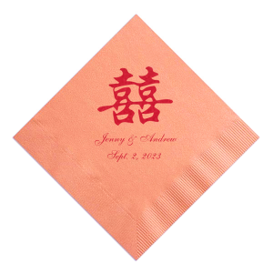 "Double Happiness - Cocktail Napkins - Personalized - Set of 100 - 5"""" x 5"""" by ForYourParty.com"