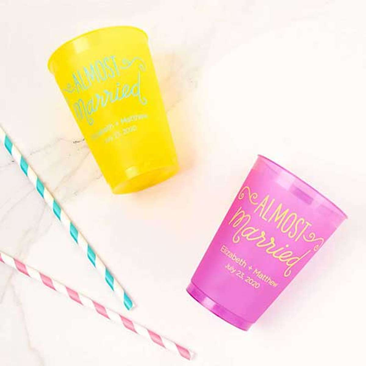 custom 12 oz. color frost flex party cup