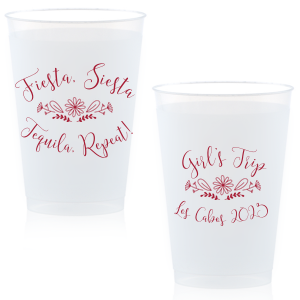 Our beautiful custom 12 oz Frosted Plastic Cup with Matte Lipstick Red Ink Colors has a Sunflower Floral graphic and a a sassy saying and will add that special attention to detail that cannot be overlooked.