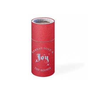 Custom Stardream Jupiter Red Barrel Matchbox with Shiny Sky Blue Foil Color has a Joy graphic and is good for use in Christmas or other holiday parties and will make your guests swoon. Personalize your party's theme today.