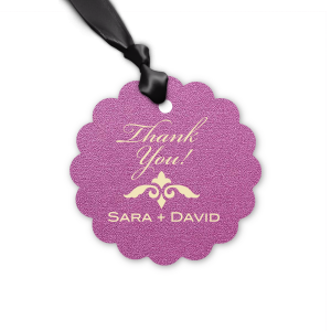 Our personalized Stardream Plum Square Gift Tag with Matte Ivory Foil Color has a Fleur de Accent graphic and is good for use in Accents themed parties and will give your party the personalized touch every host desires.