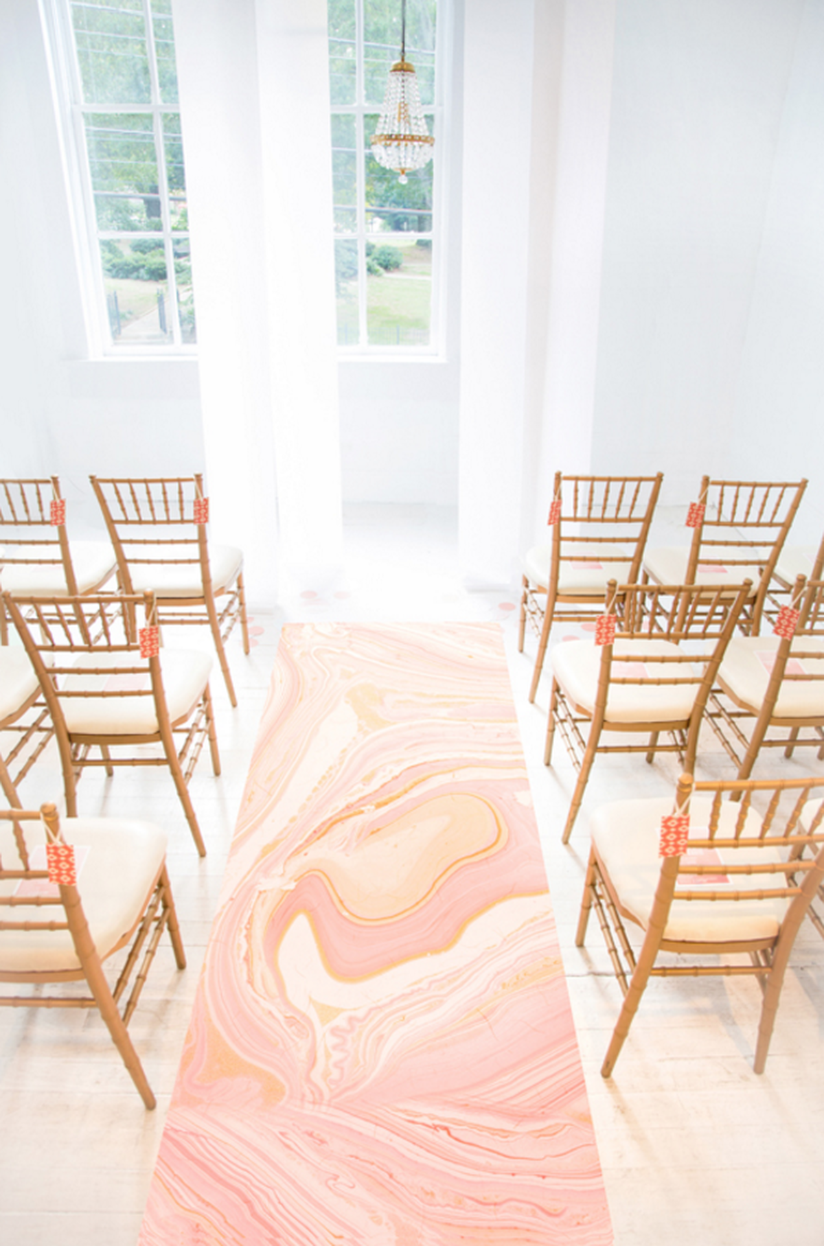 marble wedding runner
