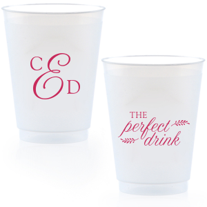 Personalized Matte Fuchsia Ink 9 oz Frost Flex Cup with Matte Fuchsia Ink Cup Ink Colors couldn't be more perfect. It's time to show off your impeccable taste.