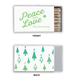 ForYourParty's elegant Photo/Full Color Matchbox with Matte Key Lime Ink Print Color can be customized to complement every last detail of your party.