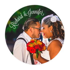 Our personalized White Photo/Full Color Round Coaster with Matte White Ink Digital Print Colors will make your guests swoon. Personalize your party's theme today.