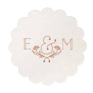 Create an instant party favorite with custom coasters! Personalize this Flower Ampersand design with your initials and theme color for a cute and memorable touch to your wedding bar. Guests will want to take them home as personalized party favors and you can use them to stock your home bar!