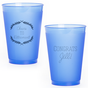 Our beautiful custom Matte Navy Ink 16 oz Frost Flex Cup with Matte Navy Ink Screen Print has a Branch Frame 1 graphic and is good for use in Frames, Floral themed parties and will make your guests swoon. Personalize your party's theme today.