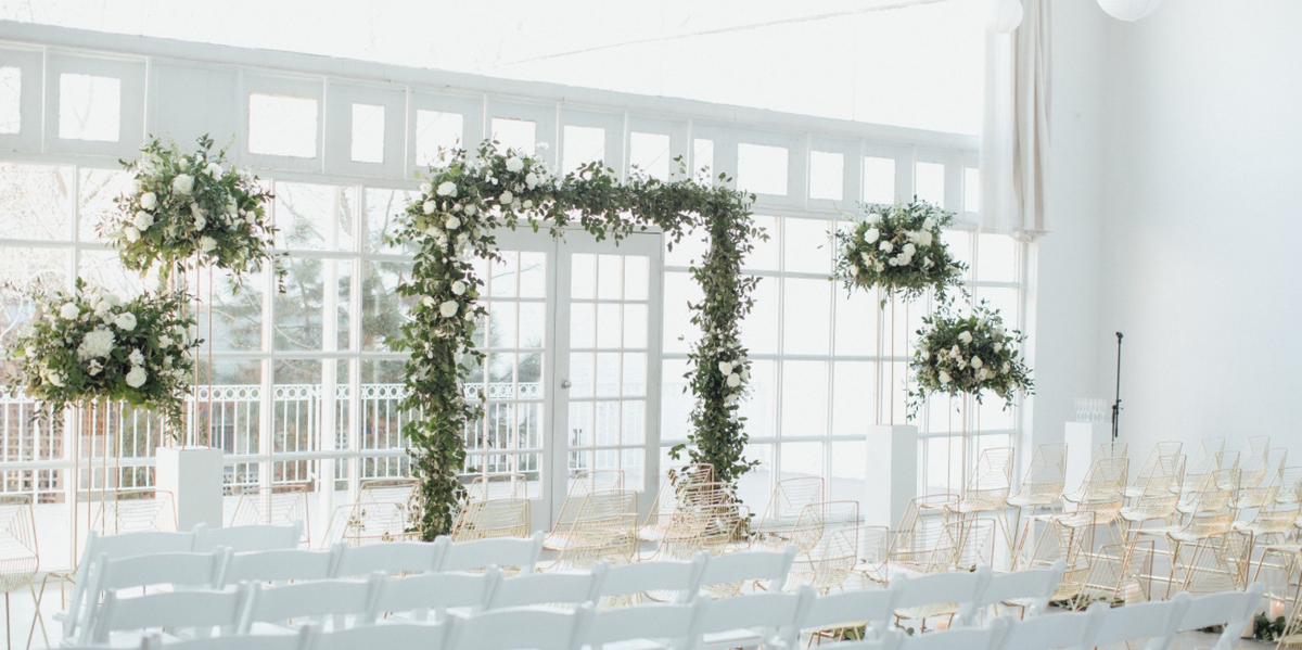 greenery wedding arch