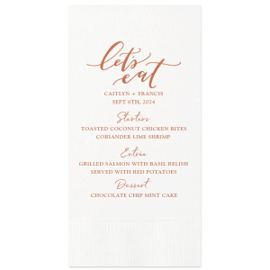 Let's Eat Menu Napkin
