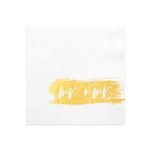 Bold Brush Mr. and Mr. Retail Napkin