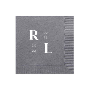 Modern Initials Lock Up Napkin