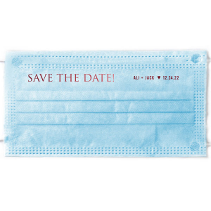 Save The Date! Heart Accent Face Mask