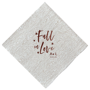 Fall In Love Leaves Napkin