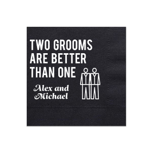 Two Grooms Wedding Napkin