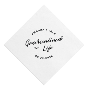 Quarantined For Life Framed Napkin