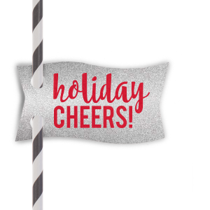 Holiday Cheers! Straw Tag