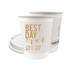 Best Day Block Paper Cup
