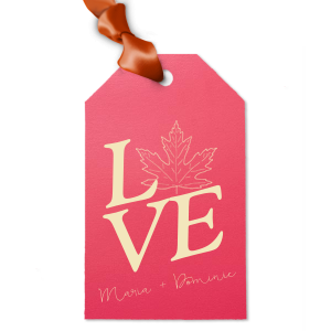 Leaf LOVE Gift Tag